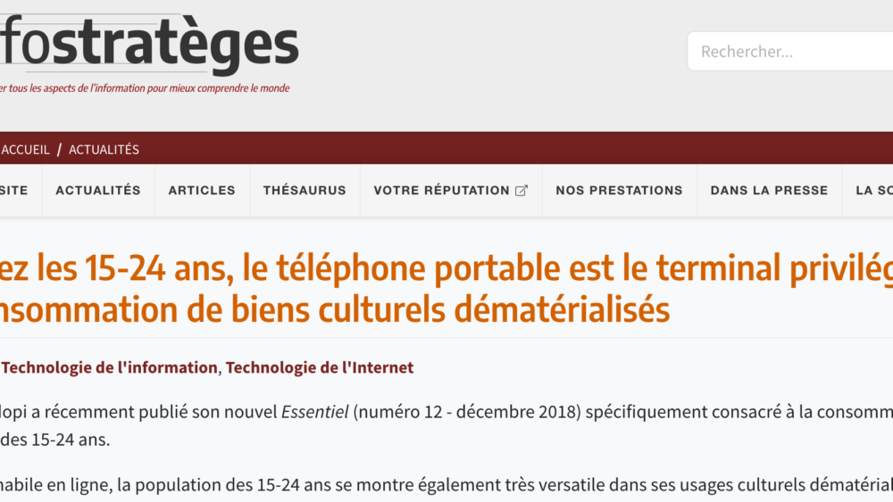Les infostrateges telephone portables - Ennocence